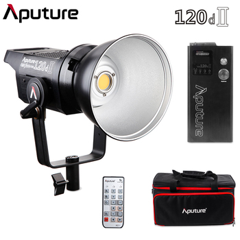 Aputure 120d II Mark II Ultimate Upgrade 30000 Люкс @ 0,5 М поддержка DMX 5 фотографическое освещение предварительно запрограммированное 5 световых эффектов