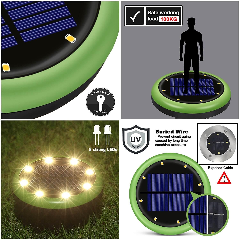 gramado lampada subterranea caminho deco luzes quintal 04