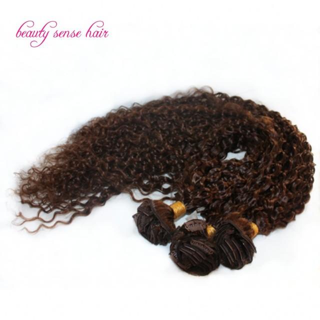 Brasileño Rizado Clip en Extensiones de cabello 100% de la virgen Brasileña extensiones de cabello Mejor calidad Clip en Extensiones de cabello humano