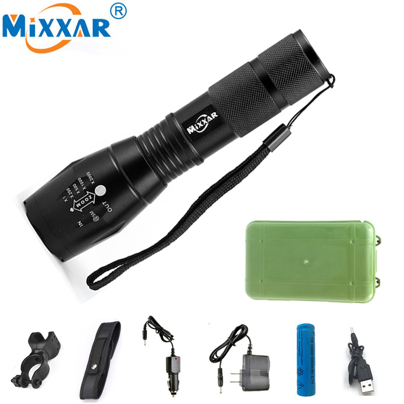 LED Flashlights Powerful Waterproof LED Camping Lamp Torch Lanternas 18650 Battery Laser Pen Military Police Flashlight Torch lumiparty 4000lm headlight cree t6 led head lamp headlamp linterna torch led flashlights biking fishing torch for 18650 battery