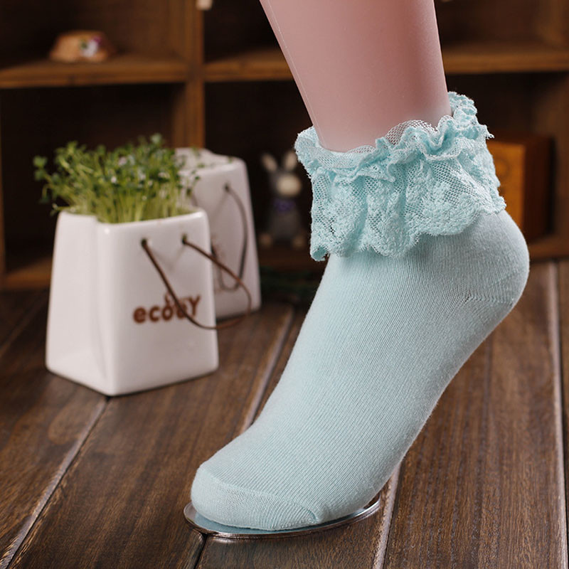 HTB1oBvUd8gXBuNjt hNq6yEiFXaN - Retro Pink Lace Ankle Ruffle Socks Women Ladies Girl Fashion Vintage