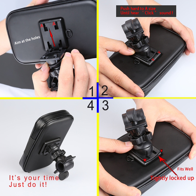Waterproof Bike motorcycle phone holder Mount For Huawei Samsung iPhone LG Smartphone GPS Universal Mobile phone Support movil
