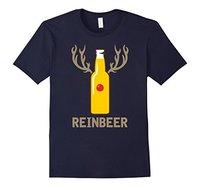 Short Sleeve Round Neck T Shirt Promotion Reindeer Beer T Shirt X Mas Beer Bottle Drinking