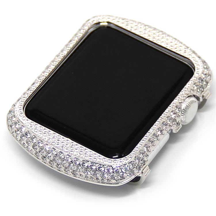 Crystal Diamond Watch Case For Apple Watch Shell frame (12)