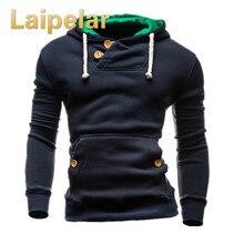 Laipelar Brand Sweatshirts Men Hoodie Decorative Buttons Fashion Hip Hop Mens Hoodies  Autumn Winter Pullover Male Sportswear