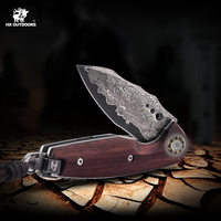 Folding Knives Blade Damascus Steel Handle Knife Outdoor Pocket Camping Tactical Survival hunting Top Knives EDC Tools