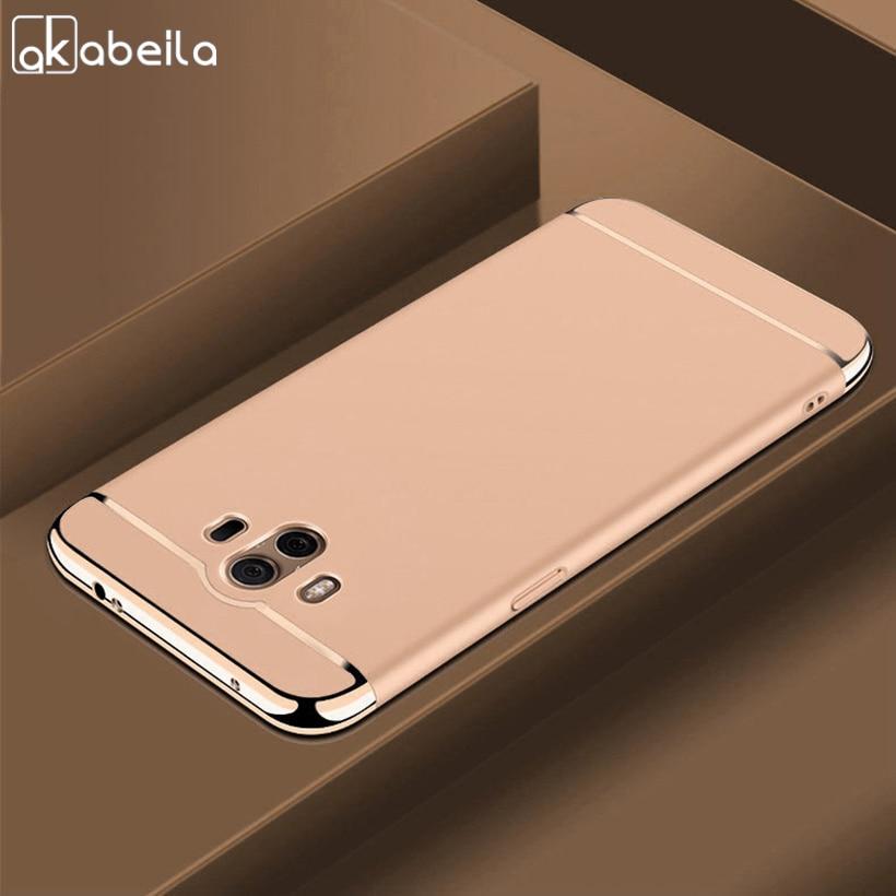 AKABEILA Plating Plastic Case For Huawei Mate 10 Case Cover Coque Funda for ALP-L09 ALP-L29 ALP-AL00 5.9 inch Anti-Knock Etui