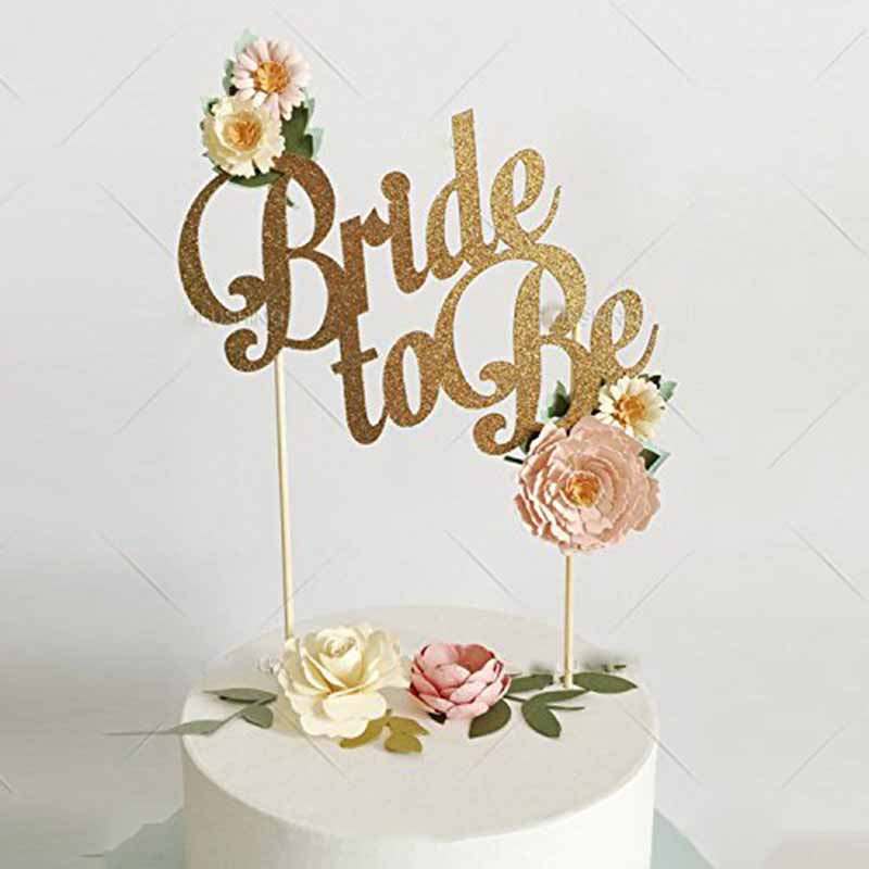 Glitter Bride to be Cake Topper Bachelorette party Bridal Shower wedding Engagement Table Centerpiece Decoration gold silver