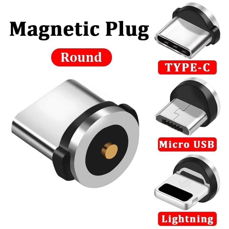 Magnetic Cable Plug Micro USB Type C USB C 8 pin Plug Fast Charging  Magnet Charger Cord Plugs
