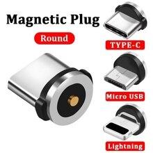 Magnetic Cable Plug Micro USB Type C USB C 8 pin Plug Fast Charging  Magnet Charger Cord Plugs lemo connector 8 pin plug fhj 2b 308 clld camera alexa mini power plugs d tap b type plug turn