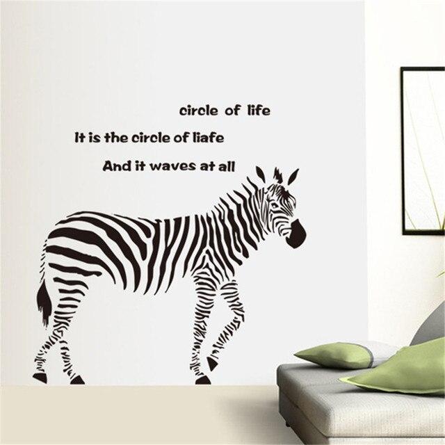 Zebra Tier Zitat Vinyl aufkleber für Kind Kindergarten Kinder ...