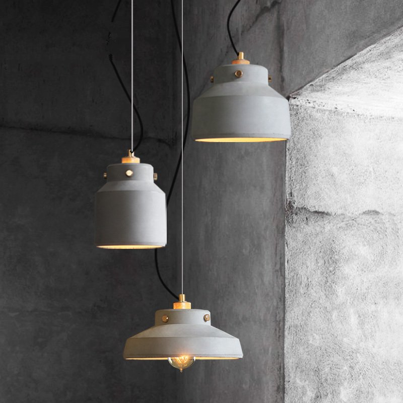 JAXLONG The Nordic Retro Pendant Lights Creative Personality Bedside Bar Hanglamp Coffee Cement Lamps Dining Room Cafe Lustre