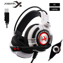 XIBERIA K3/K5/K9/K10 USB Gaming Headphones Virtual 7.1 Surround Sound Stereo Bass Headset with Microphone LED for Computer Gamer