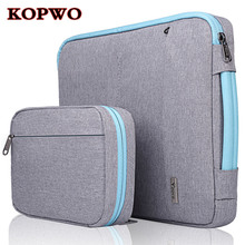 KOPWO 2 in 1 Laptop Liner Sleeve Bag Inner Case for Apple Macbook Air Pro 13.3 15.4 Inch Portable Package Accessories Bag Set