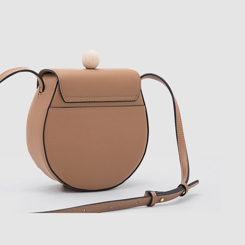 Moda simplesmll rodada saco de couro das senhoras designer de bolsa de couro de alta qualidade saco de grande capacidade de ombro único cruz qq216 - 3