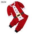 Niñas niños de papá Noel Santa Claus Ropa Set Pantalones de dos piezas de Manga Larga con capucha de invierno casual Tamaño para 2,3, 4,5, 6,7 años