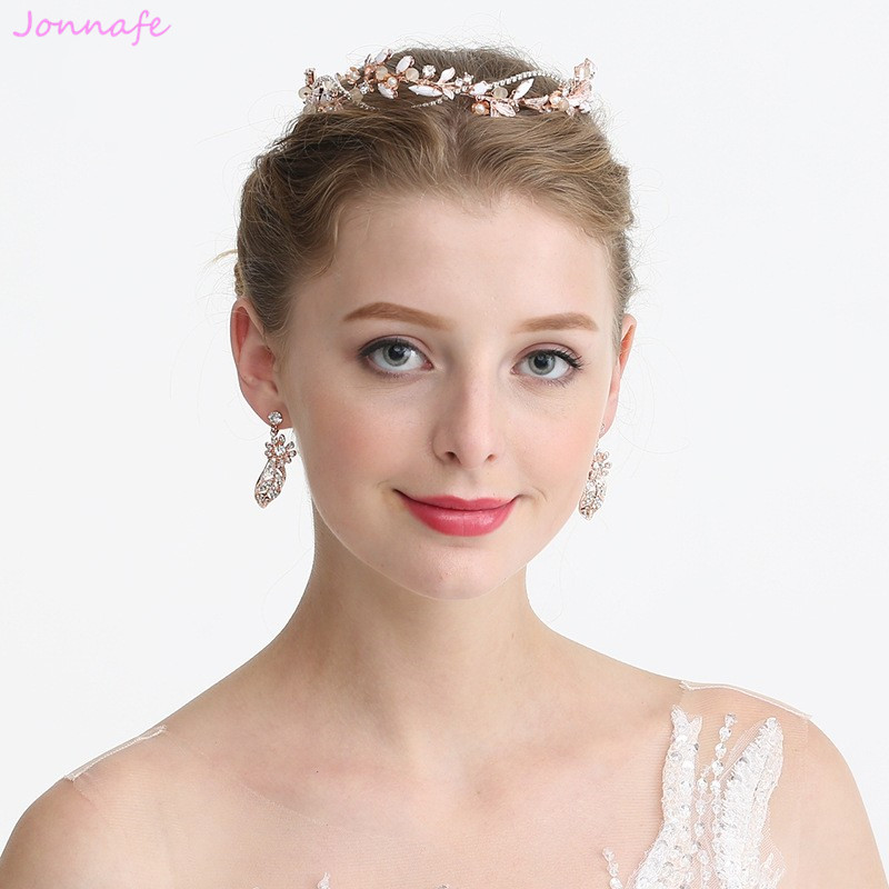 rose gold tiara bridal headdress rose gold hair vine Bridal headpiece boho wedding boho bride rose gold wedding hair accessories