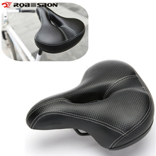 Фотография Wide Bicycle Seat Thicken Bike Saddle Bicicleta Seat Cycling Saddle MTB Cushion Asiento Bicicleta Sponge Soft Cycling Saddle