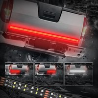 MICTUNING 60 Inch 2 Row LED Truck Tailgate Light Bar Strip Red/White Reverse Stop Turn Signal Running for SUV RV Trailer