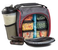 Waterproof jaxx Picnic lunch bag ice bag lunch box cool fit bag insulated Portable Fabric Thermal Cooler Bag with plastic box
