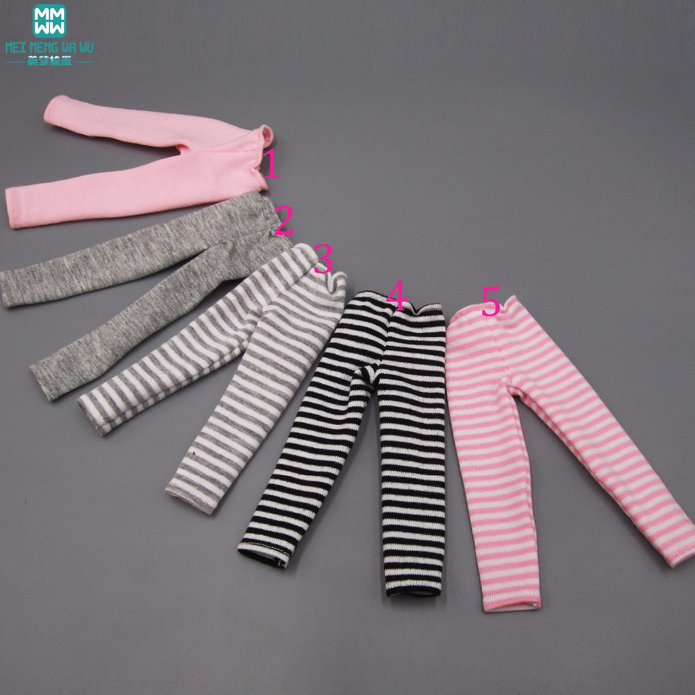 BJD Accessories Doll Accessories 5 Styles Pantyhose Fit 27-32cm 1/6 1/8  Bjd Doll Pink Gray Stripes