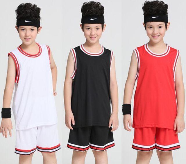 6ee2c4f480dc Kids Cheap Basketball Jerseys Youth Basketball Uniforms Sets Sleeveless  Shirt Shorts Breathable boys custom basketball jersey