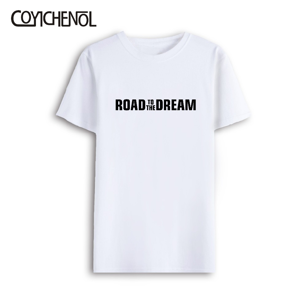Road To The Dream Love 7xl Oversized Customize Short Sleeves Print Tshirt Men Large Size Modal O-neck Casual Solid Color Tee