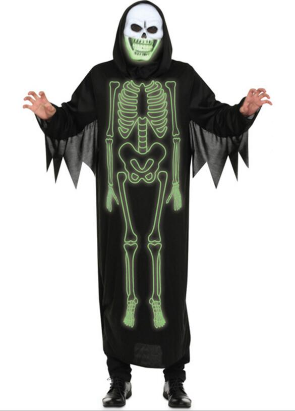 Halloween clothes costume male adult costumes in the skull clothing human skeleton