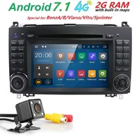 7 Quad Core 1024 600 2 Din Car DVD Android 7 1 For Mercedes Benz B200