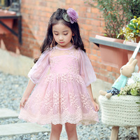2018 Summer Children S Wear Dance Performance Dress New Brand Kids Girls Lantern Sleeve Fashion Korean