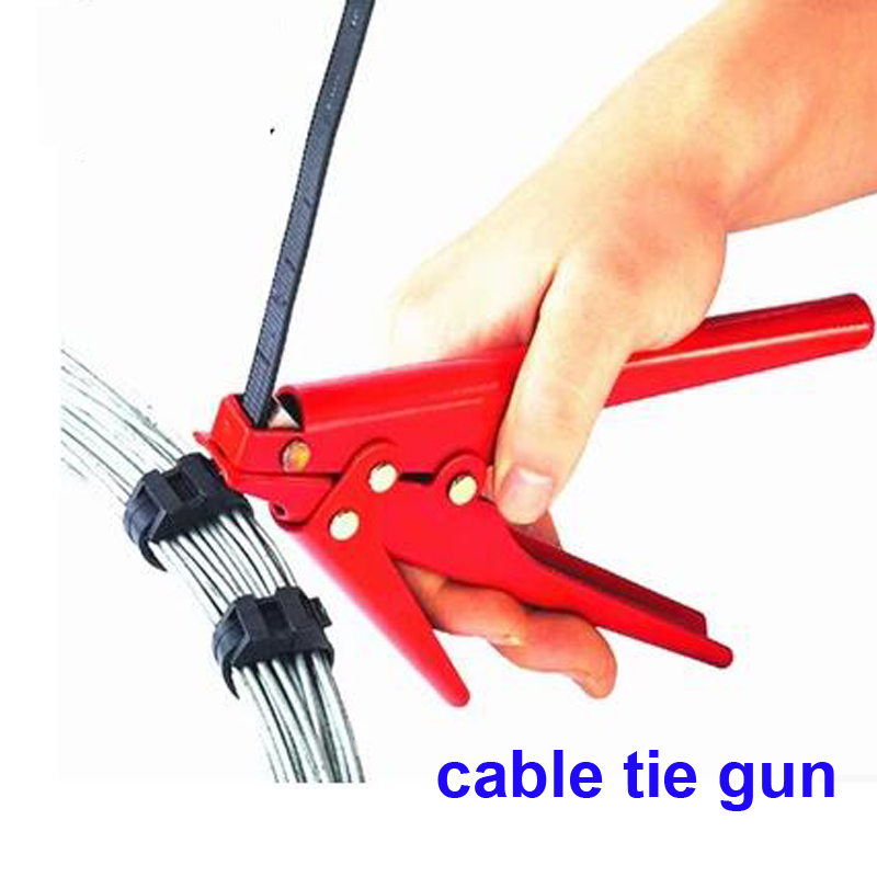 Free Shipping HS-519 Wires Fastening And Cutting Tool Special for Cable Tie Gun For Nylon Cable Tie width: 2.4-9mm 10pcs fastening tool for cable tie wires stainless width 2 4 9mm