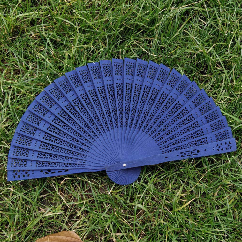 Pattern Folding Fans Dance Wedding Party Hand Fragrant Party Carved Bamboo Folding Fan Chinese Style Wooden Hand Fan Gift Summer