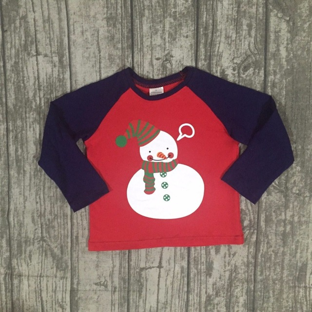 new children christmas raglans baby boys snowman raglans top children boys christmas shirts t shirt - Christmas Shirts For Boys