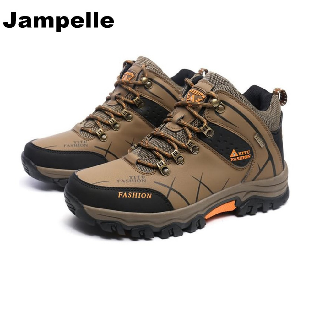 Outdoor Lace-up High-top Hiking Boots Sport Men's Shoes For Camping Climbing Mountain Non-slip Breathable Shoes New kelme 2016 new children sport running shoes football boots synthetic leather broken nail kids skid wearable shoes breathable 49