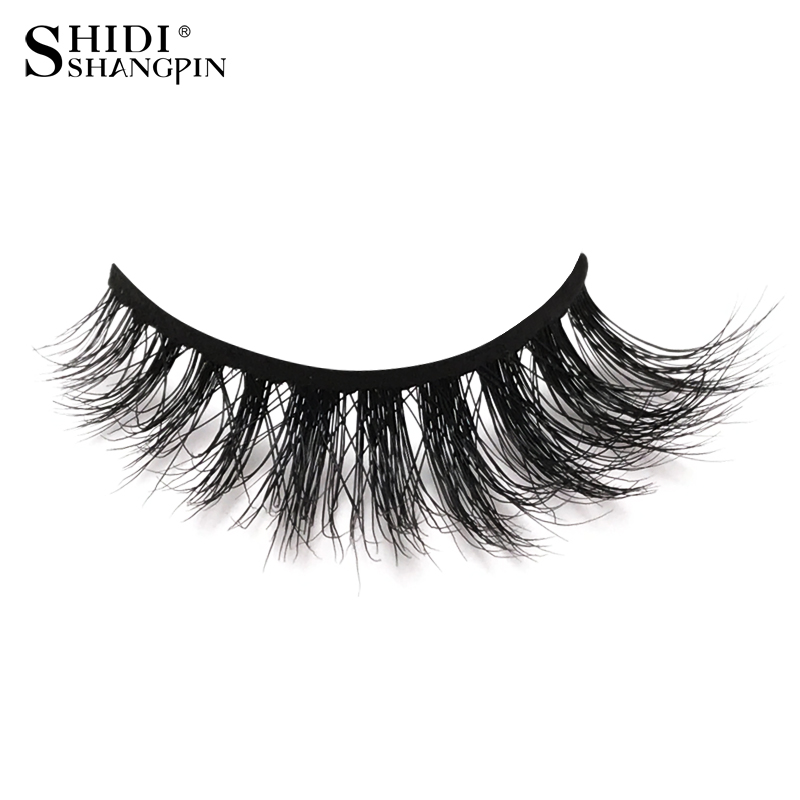 1 pair luxry long beauty hair mink eyelashes 3d comb type tips big eye lashes fake handmade natural long lash