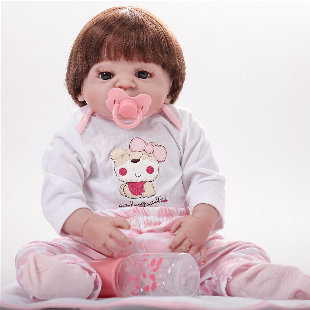 22 inches Full Silicone Vinyl Newborn Girl Doll Lifelike Reborn Baby Doll for Kids Toy Birthday Christmas Xmas Gift Bebe шина toyo observe gsi 5 205 70 r16 96q