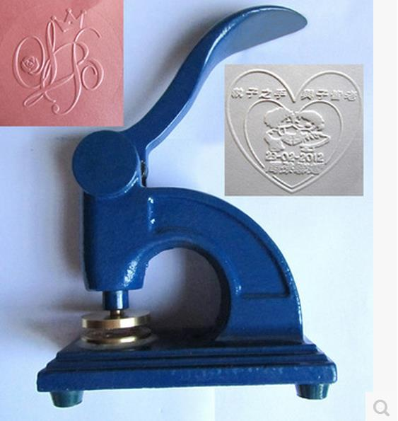 Customized Logo Desk Heavy Embossing Seal Stamp/customize Personalized Diy Embosser Letter Head Wedding Envelope Gaufrage Stamp