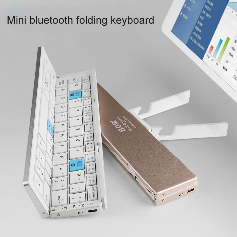 NEW HB199 mine portable folding bluetooth Wireless charging keyboard for IOS and android PC equipment
