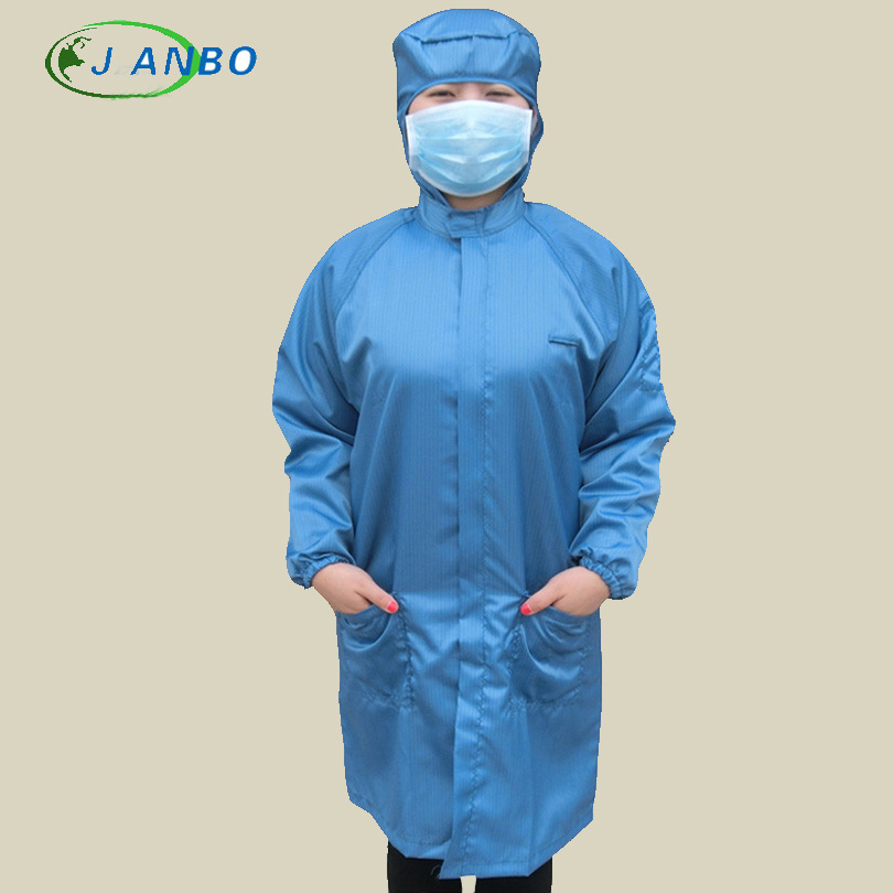 Anti Static Safety Shirt Cleanroom Suit Factory Protection Jumpsuit Work Pants Cleanroom Laboratory Split Clothing Blue White