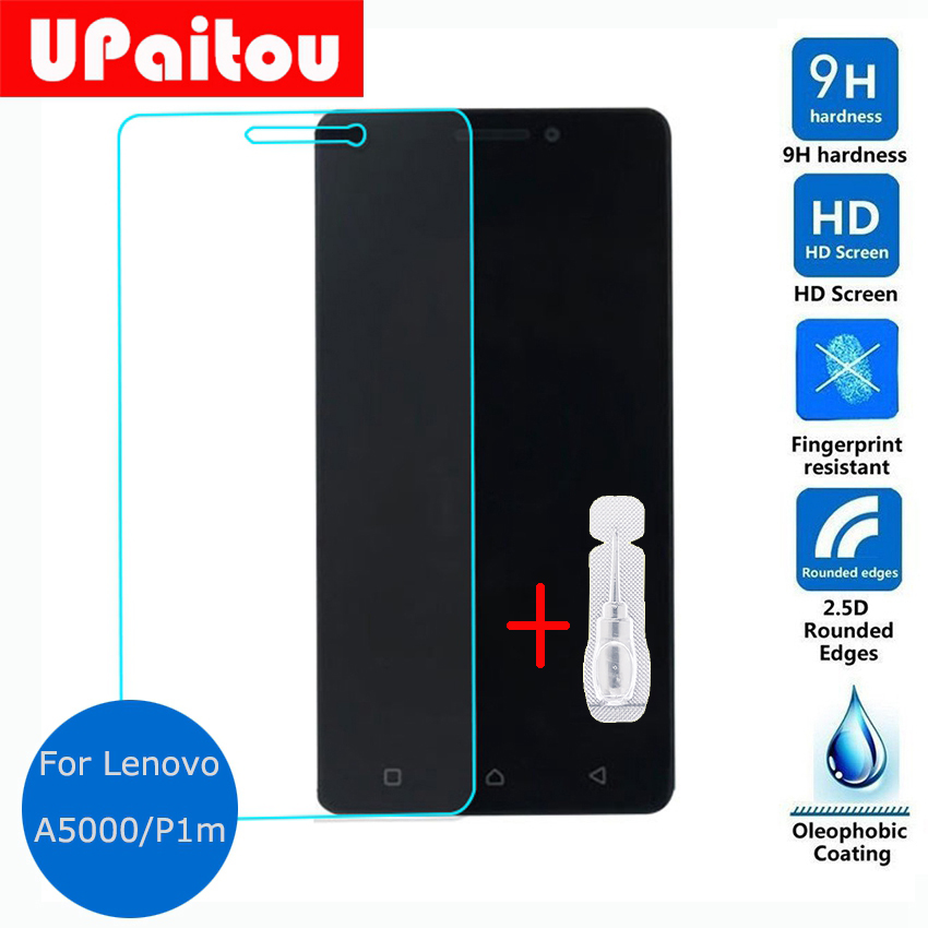 UPaitou Glass For Lenovo Vibe P1m Tempered glass Screen Protector Clear Safety Protective Glass Film on P1mc50 P1ma40 Dual Sim