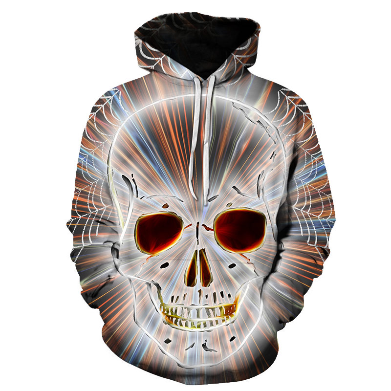 sales 2019 new fashion men's/women's 3D printed hoodie with crew neck funny clown drawing animal seal skull hoodie sweatshirt(China)