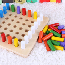 Montessori Materials Toys Educational Games Cylinder Socket Blocks Wooden Math Children Early