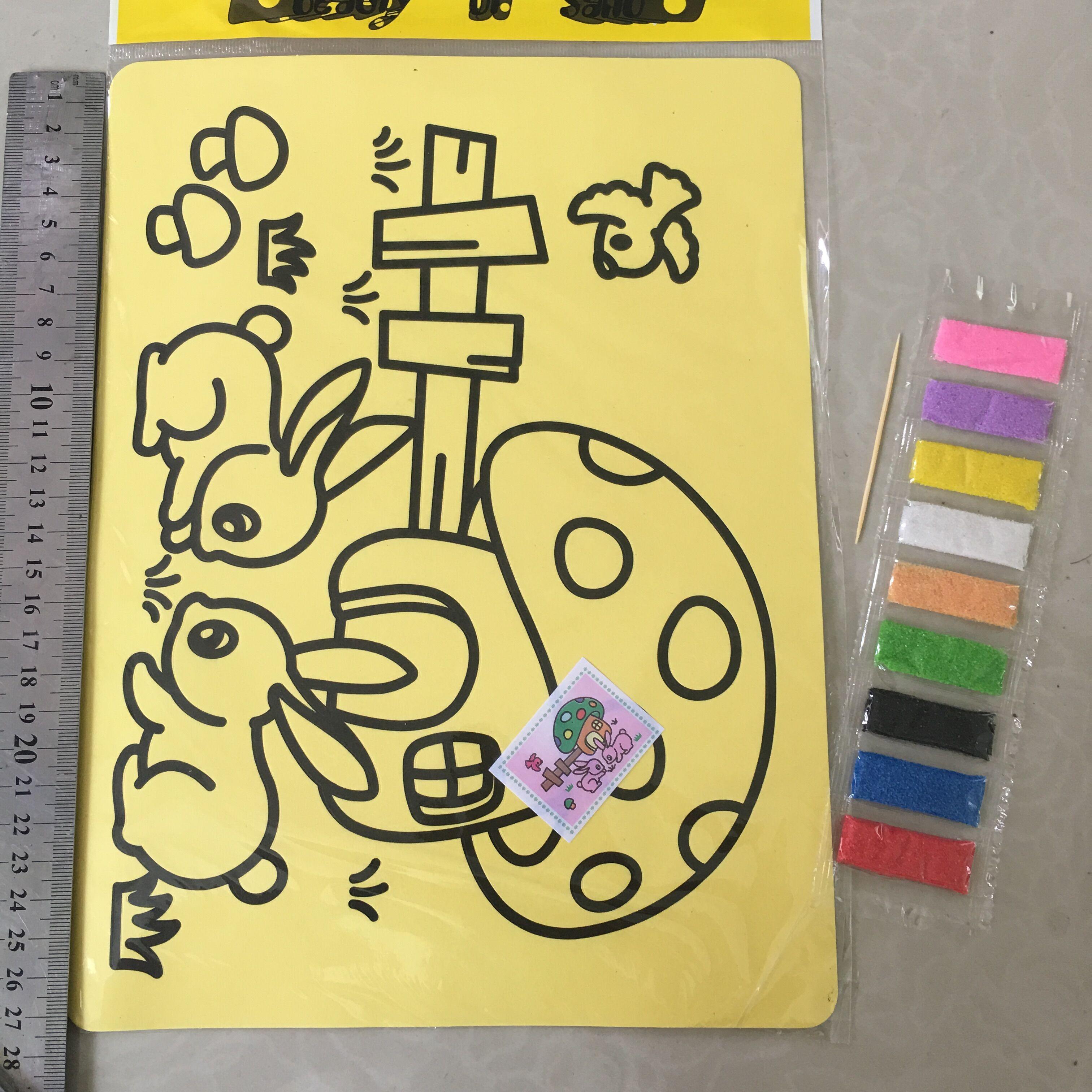 Sale CCINEE 10 PCs LOT 11x9 CM Children Kids Drawing Toys Sand