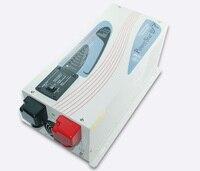 Солнечный инвертор низкой частоты инвертора 12 В до 220 В 1 фазы 1000 Вт домашнего использования чистая синусоида евро разъем преобразователя
