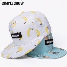 SIMPLESHOW nuevo patrón de frutas Snapback mujeres niños moda gorras de béisbol  niños adultos Encantadores Niños Niñas sol Hip H.. 1dc3e4b91b9