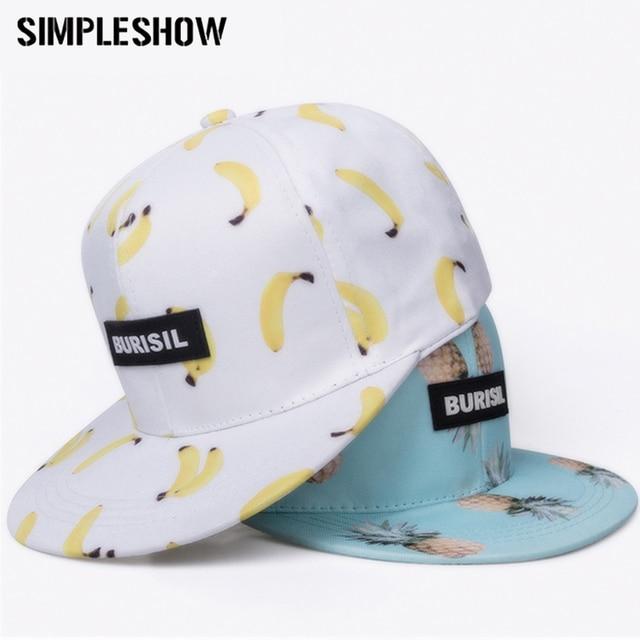 SIMPLESHOW New Fruit Pattern Snapback Women Kids Fashion Baseball Caps Children Adult Lovely Boys Girls Sun Hip Hop Caps