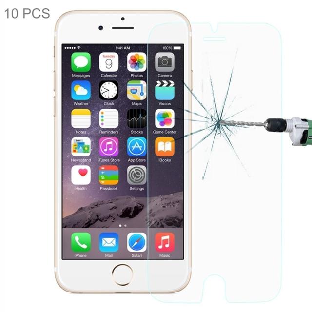 Nuevo 10 unids/pack 0.26mm Ultra Thin Templado Película De Vidrio Templado Para el iphone 6 Plus 6 S Plus Vidrio Protector de Pantalla con Menor paquete
