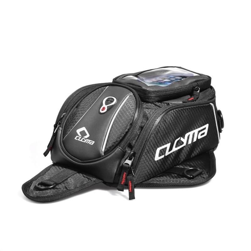 Мотоцикл черный бак Сумки Универсальный Motos багаж Универсальный Мотоцикл масляный топливный бак сумки Сиденье Хвост пакет натуральная CUCYMA
