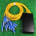 Envío libre PLC Divisor Óptico 1x16 Cable SC Tipo de Conectores, 16 PLC divisor de fibra óptica