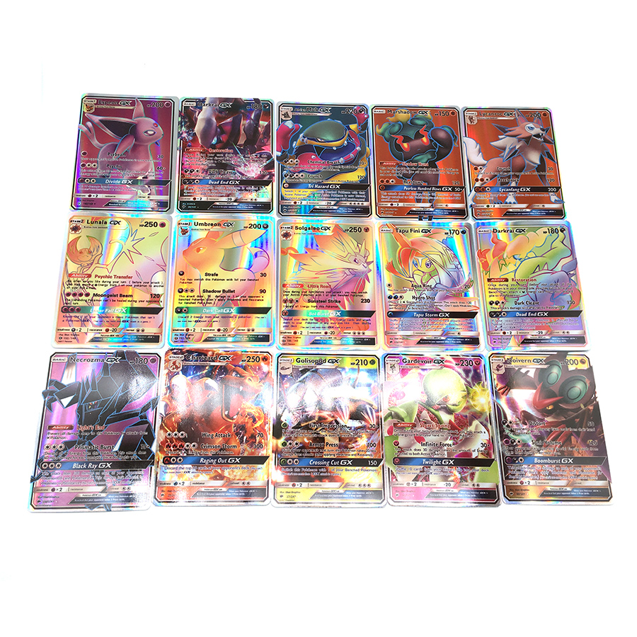 324 PCS Cartoon Gx Mega Ex Shining Cards Game Battle Carte Trading Cards Game Children Pokeball Toy For Kid Gift(China)
